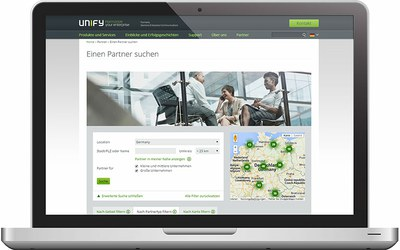 Relaunch der Unify Partner Locator App