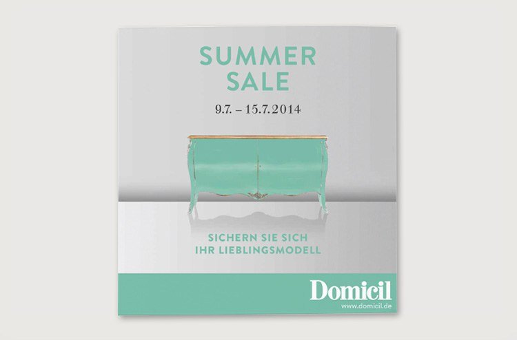 Domicil Summer Sale Karte