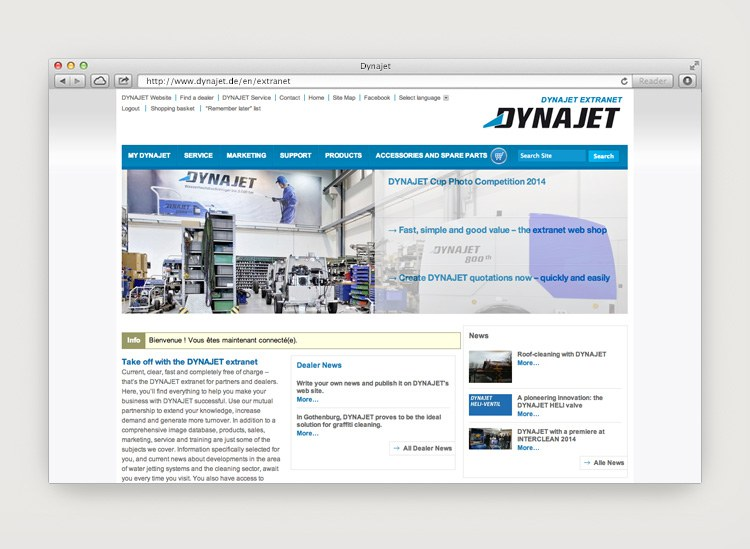 Dynajet Website Extranet